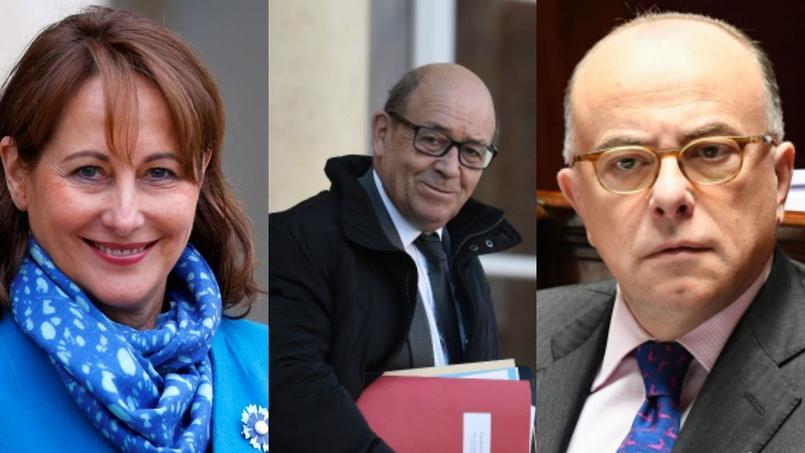 Ségolène Royal, Jean-Yves Le Drian et Bernard Cazeneuve, soupçonnés d'irrégularités.