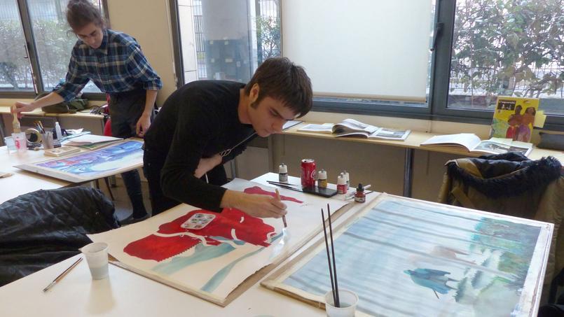 Ouverte depuis 2014, l'Académie Brassart Delcourt (XIe) setargue deformer entrois ans de véritables professionnels.