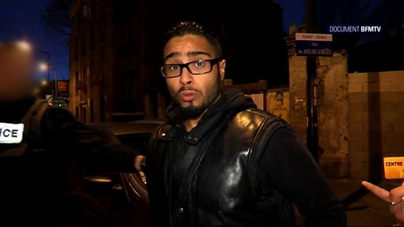 Jawad Bendaoud, interrogé par BFM TV le 15 novembre 2015 (capture d'écran).