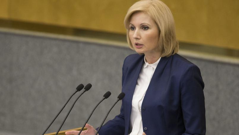 L'auteur de la loi, la députée Olga Batalina, ici mercredi à la Douma, refuse qu'un «parent auteur d'un bleu sur un enfant puisse être privé de liberté durant deux ans».