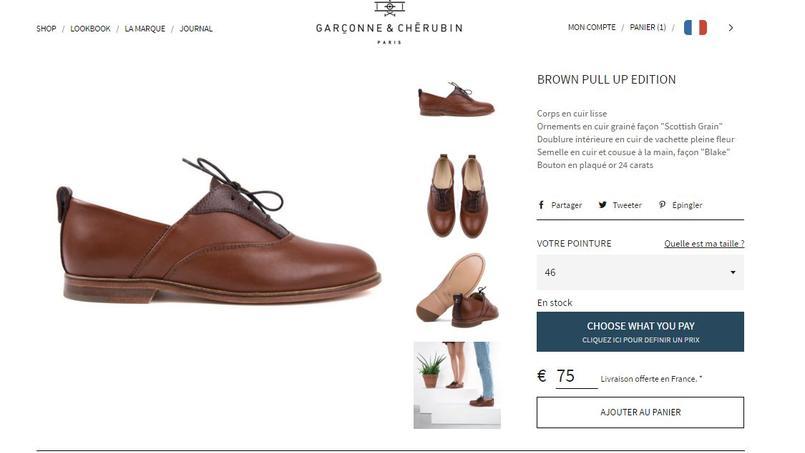 Chez Garçonne & Chérubin les chaussures sont aux enchères.