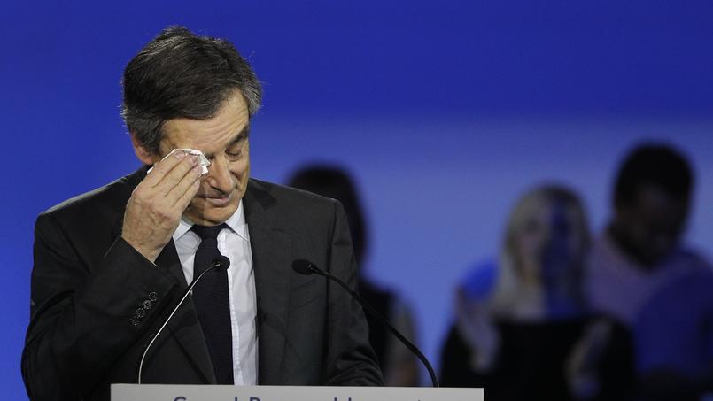 François Fillon lors de son discours de campagne, le 29 janvier 2017
