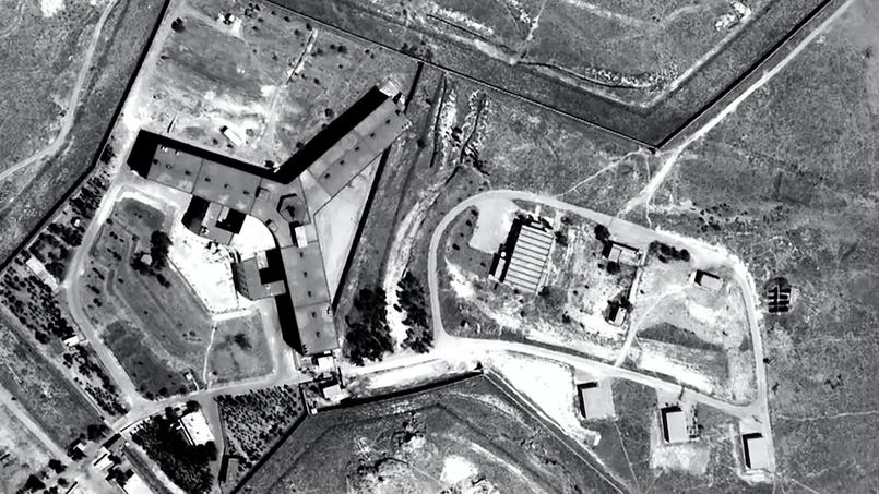 Vue satellite de la prison de Saidnaya.