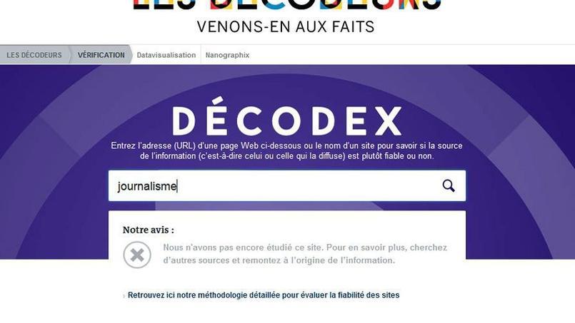 Decodex est un outil de décryptage de la presse en ligne mis en place par Le Monde le 1er février dernier.