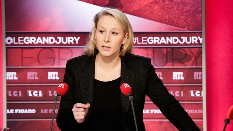 Marion Maréchal-Le Pen sur le plateau du «Grand Jury RTL-Le Figaro-LCI».