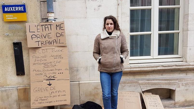 Photo de la page Facebook d'Aurélie «J'ai le droit de vivre de mon travail».