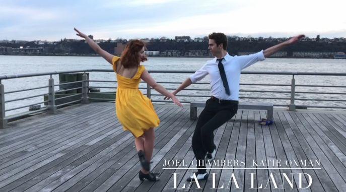 L'hommage new-yorkais des danseurs Joel Chambers et Katie Oxman à «La La Land».