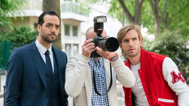 Tarek Boudali, Julien Arruti et Philippe Lacheau, les associés de Alibi.com, agence spécialisée dans le mensonge.
