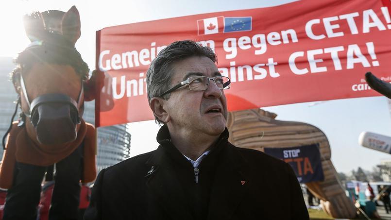 Jean-Luc Mélenchon, mercredi 15 février, à Strasbourg.