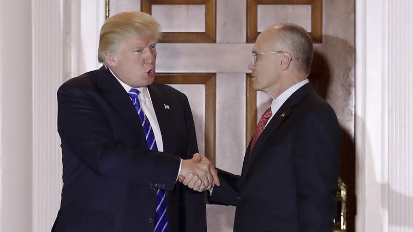 Donald Trump et Andrew Puzder le 19 novembre 2016