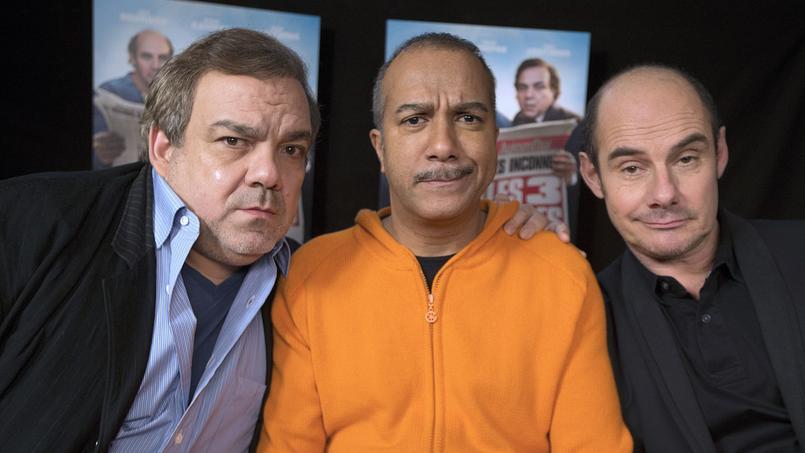 Les Inconnus Didier Bourdon, Pascal Légitimus et Bernard Campan, réunis lors de la sortie, en 2014, du film Les Trois Frères: le retour. Un retour sur grand écran qui n'avait pas été convaincant.