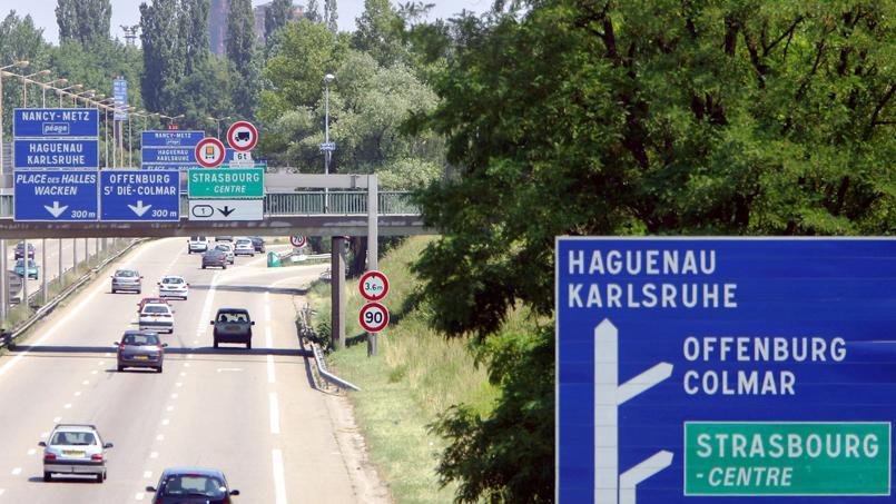 L'autoroute A4, près de Strasbourg.