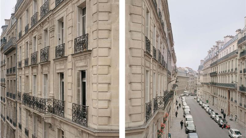 La rue Portalis (VIIIe) à gauche et la rue de Madrid (VIIIe) à droite