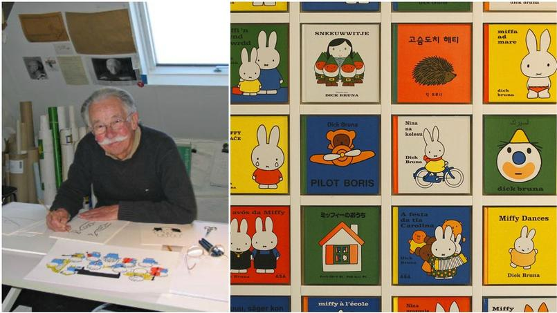 Dick Bruna dans son atelier.