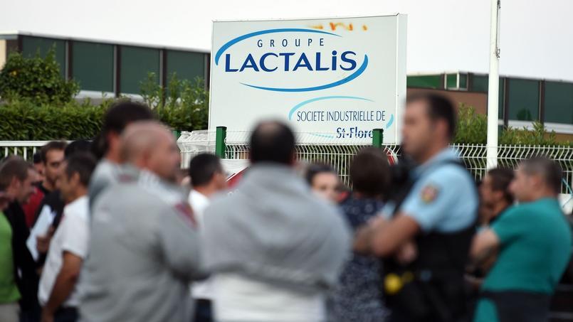 Manifestation de producteurs de lait à Laval (Mayenne), août 2016.