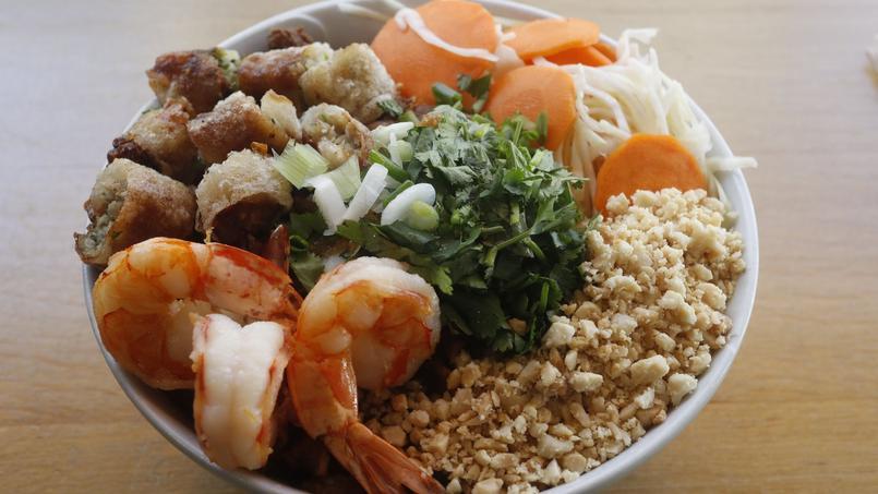 Le bo bun spécial crevettes du Petit Cambodge (Paris Xe).