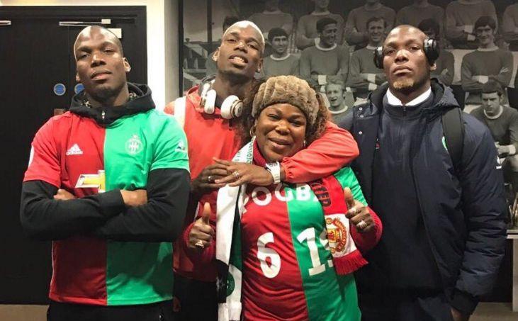 La famille Pogba à Manchester jeudi soir.