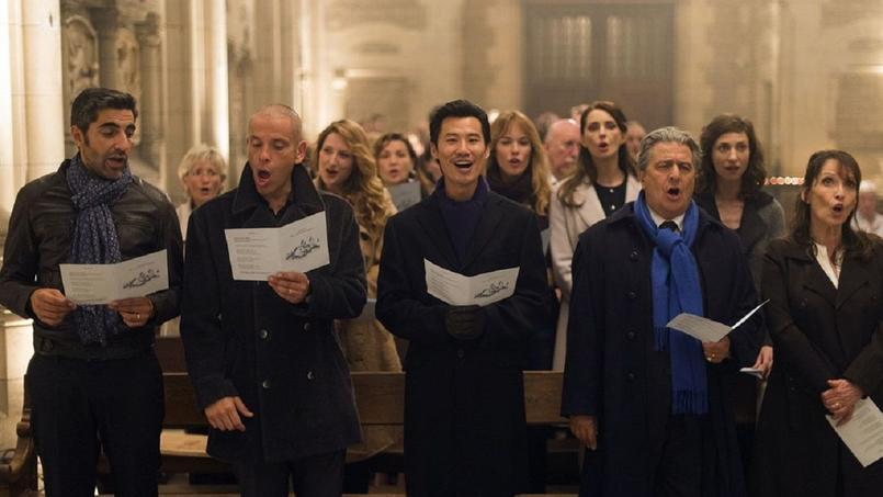 Ary Abittan, Medi Sadoun, Frédéric Chau, Christian Clavier et Chantal Lauby dans Qu'est-ce qu'on a fait au Bon Dieu?