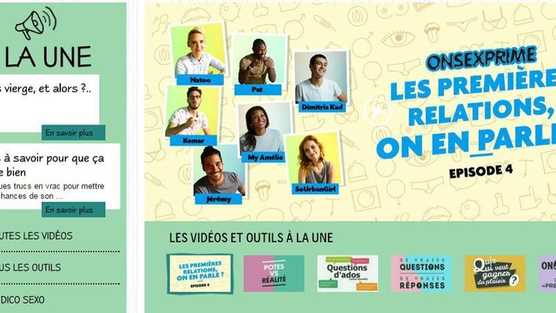 Page de garde du site onsexprime.fr critiqué par La Manif pour tous.