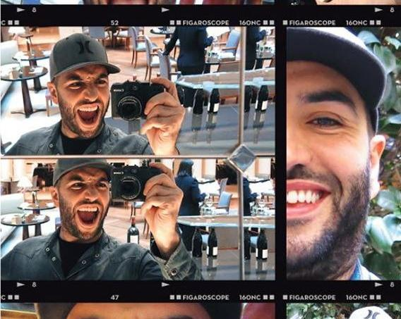 Selfie de Kamel le magicien au bar du Park Hyatt Vendôme (Paris IIe).