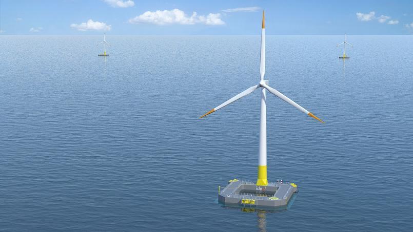 deol s'est allié à Bouygues Travaux Publics pour construire Floatgen, une fondation enciment pour éolienne flottante.