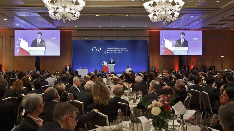 L'an dernier au dîner du CRIF, le premier ministre Manuel Valls avait pris la parole.