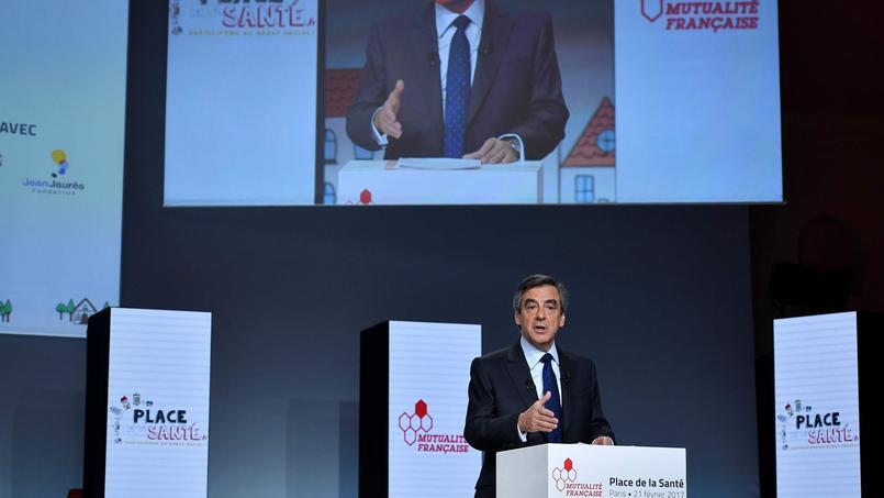 François Fillon lors de l'événement sur la santé organisé mardi matin par la Mutualité Française.