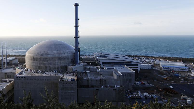 Le chantier de l'EPR, le réacteur nucléaire de nouvelle génération, à Flamanville (Manche).