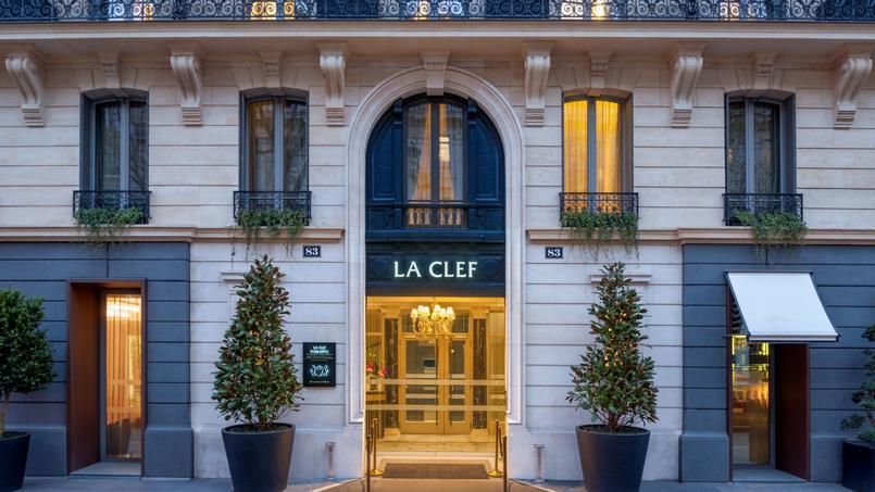 L'entrée de cette résidence de luxe, située au cœur de Paris.