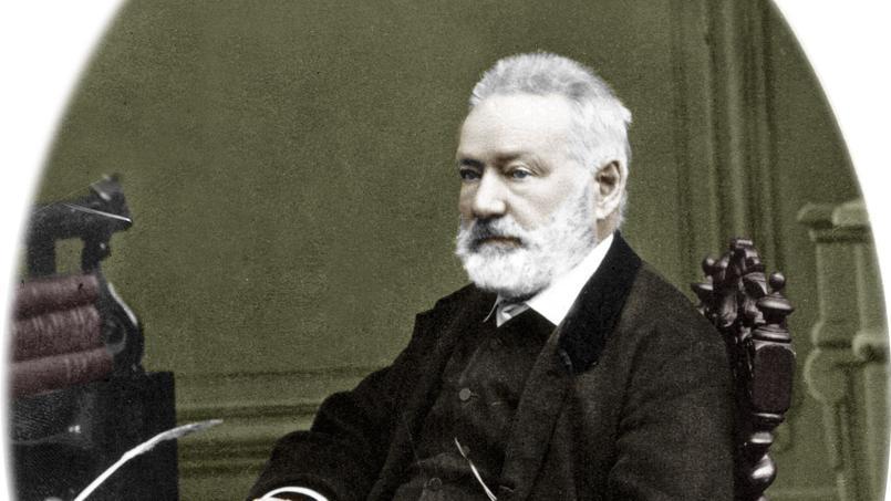 Le poète et romancier français Victor Hugo (1802-1885) vers 1879. Document colorisé.