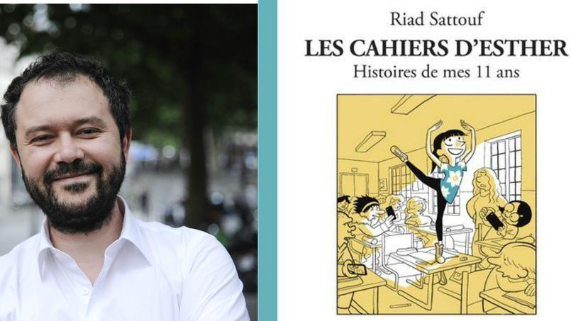 Riad Sattouf fait une entrée fracassante dans le classement hebdomadaire des meilleures ventes de bandes dessinées, avec le second volume des «Cahiers d'Esther».