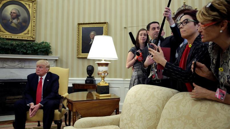 Le président Donald Trump à la Maison-Blanche lors de sa rencontre avec le président péruvien, Pedro Pablo Kuczynski.