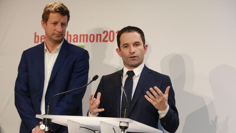 Yannick Jadot et Benoît Hamon