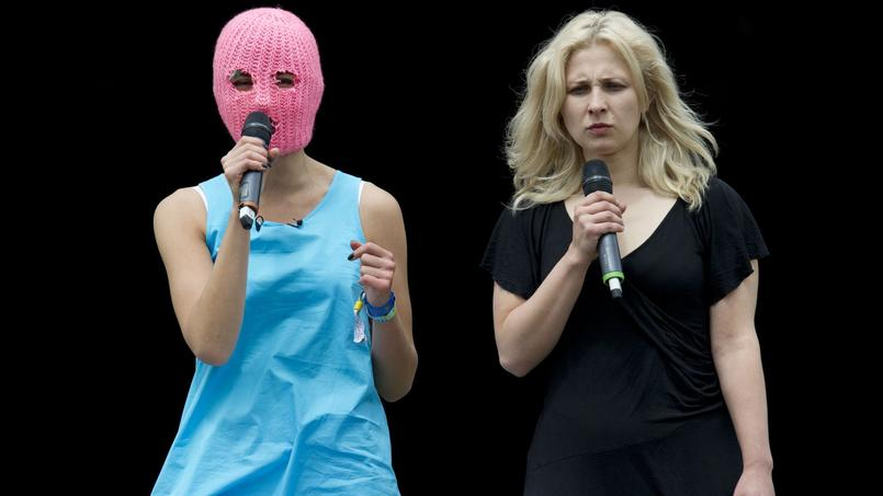 Nadezhda Tolokonnikova et Maria Alyokhina le 26 juin 2015.