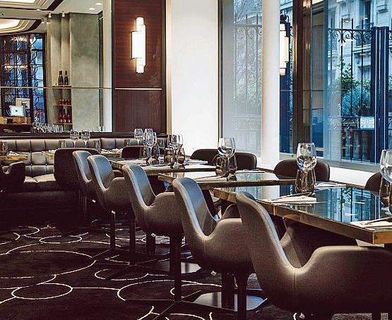 L'espace restaurant de La Maison Nordique, rue du Faubourg-Saint-Honoré (Paris VIIIe).