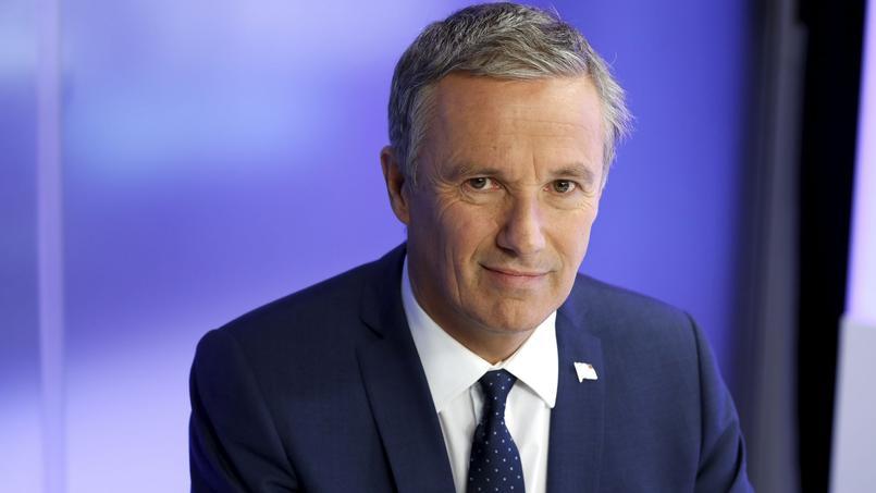 Nicolas Dupont-Aignan, président de Debout La France, a indiqué qu'il allait attaquer TF1 en référé devant le Conseil d'État.