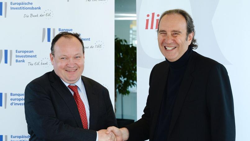 Ambroise Fayolle, vice-président de la BEI, et Xavier Niel, fondateur de Free et directeur stratégique d'Iliad.