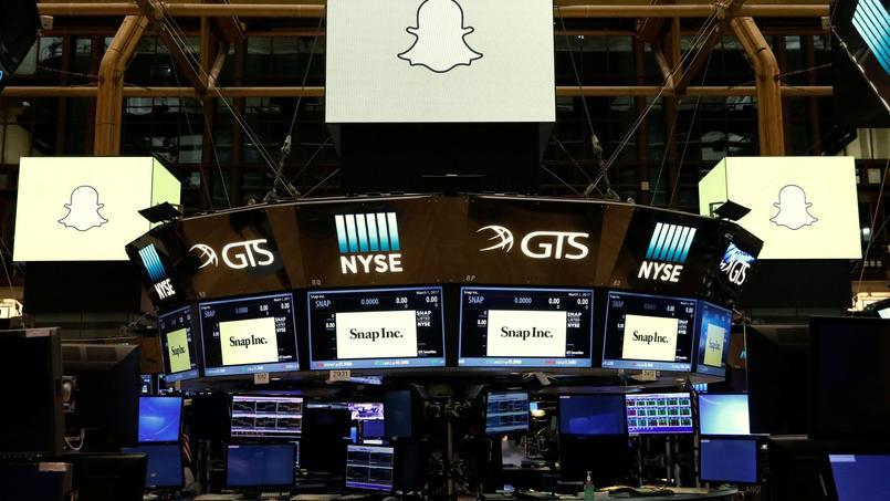 Le logo de Snap à la Bourse de New York