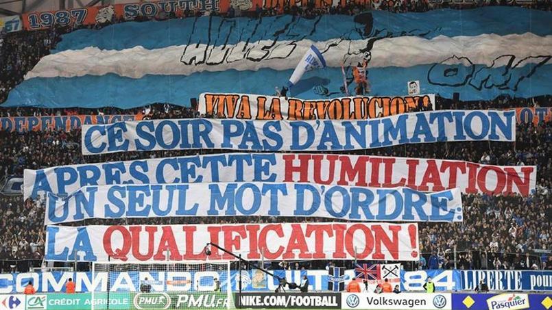 OM : les premières banderoles de contestation de l'ère McCourt au Vélodrome
