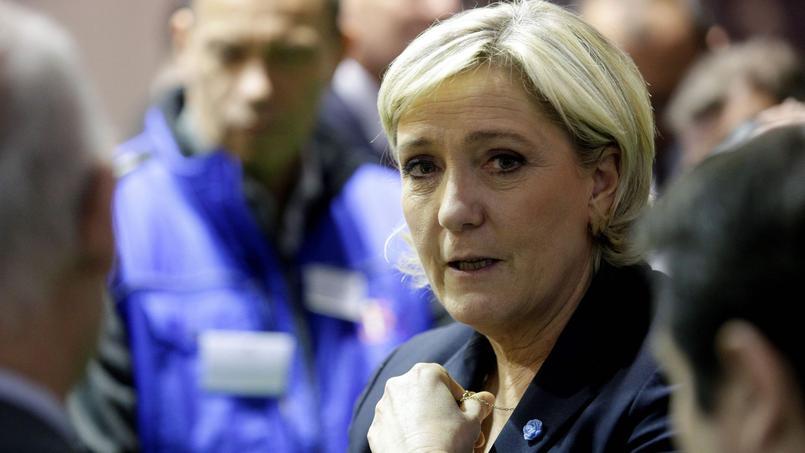 Marine Le Pen au Salon de l'Agriculture, le 28 février dernier.