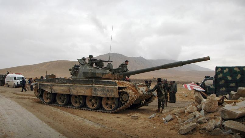 Les forces syriennes prennent position dans la ville de Palmyre, le 2 mars 2017.
