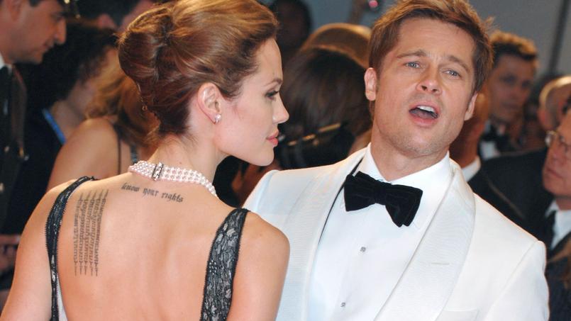 Angelina Jolie et Brad Pitt à la Mostra de Venise, en 2007.