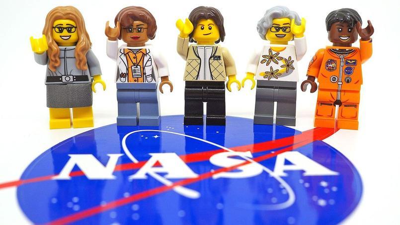 Le futur set de cinq figurines rendant hommage à cinq femmes de la Nasa.