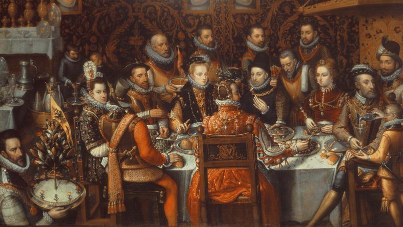 Le banquet des monarques (1579) de Sanchez Coello Alonso.