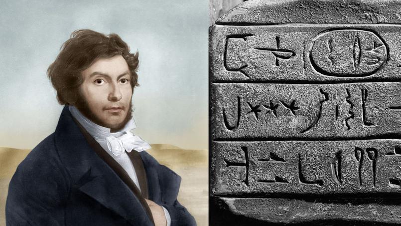 L'égyptologue Jean-François Champollion (1790-1832), déchiffreur des hiéroglyphes.