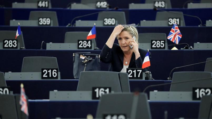 Marine Le Pen au Parlement européen, le 17 janvier dernier.