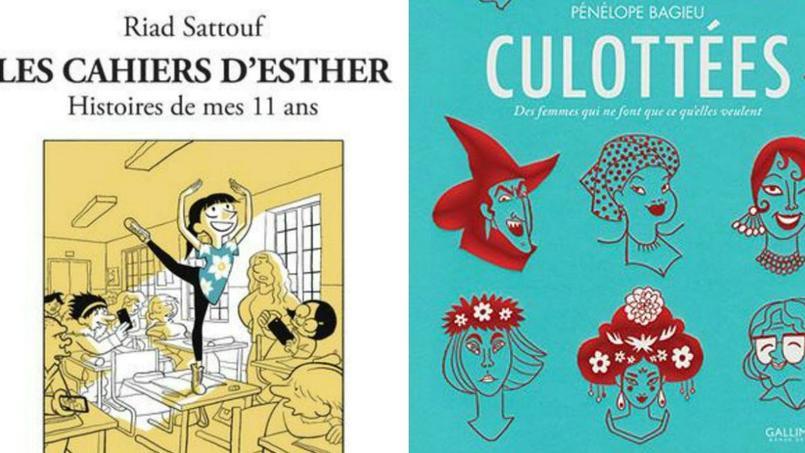 «Les Cahiers d'Esther» et les deux tomes des «Culottées» occupent le trio de tête du classement des meilleures ventes de bandes dessinées.