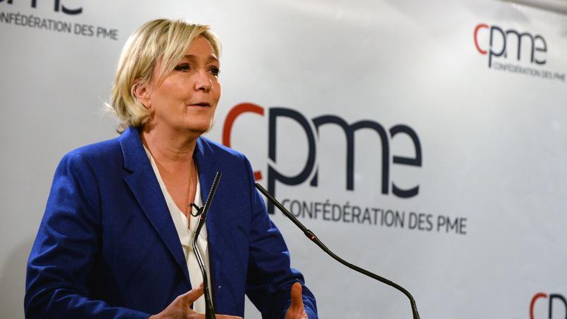 Marine Le Pen, invitée du débat de la CPME le 6 mars 2017.