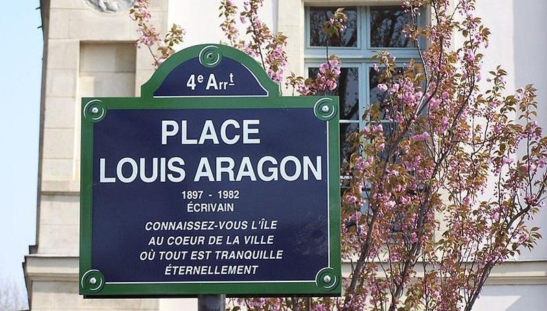 La place dédiée au poète et écrivain Louis Aragon à Paris.