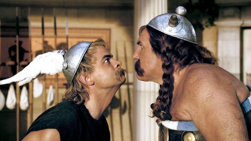 Astérix et Obélix dans le film Astérix aux Jeux olympiques de Frédric Forestier et Thomas Langmann.
